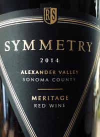 Rodney Strong Symmetry Meritage Red Winetext
