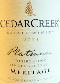 CedarCreek Platinum Desert Ridge Single Vineyard Meritagetext