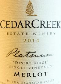 CedarCreek Platinum Desert Ridge Single Vineyard Merlottext