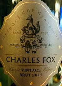 Charles Fox Cuvée Elgin Vintage Brut Method Cap Classique
