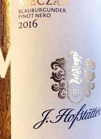 J. Hofstatter Meczan Blauburgunder Pinot Nerotext