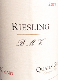 Quails' Gate Riesling B.M.V.text