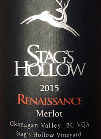 Stag's Hollow Renaissance Merlot Stag's Hollow Vineyardtext
