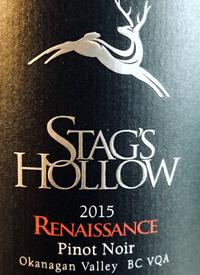 Stag's Hollow Renaissance Pinot Noir