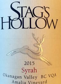 Stag's Hollow Renaissance Syrah Amalia Vineyardtext