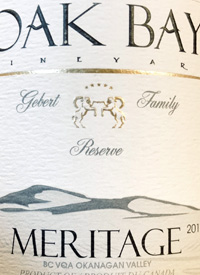 Oak Bay Vineyard Meritage Gebert Family Reservetext