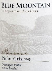 Blue Mountain Reserve Pinot Gristext