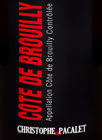 Christophe Pacalet Cote de Brouilly