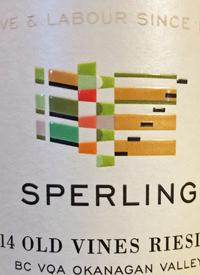 Sperling Vineyards Old Vines Riesling