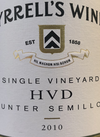 Tyrrell's HVD Single Vineyard Hunter Semillontext