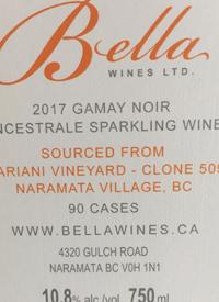 Bella Wines Gamay Noir Methode Ancestrale Mariani Vineyard Clone 509