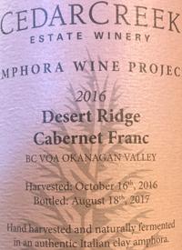 CedarCreek Amphora Wine Project Desert Ridge Cabernet Franctext