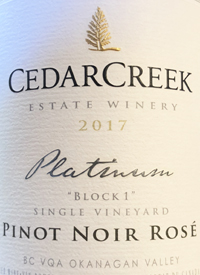 CedarCreek Platinum Block 1 Pinot Noir Rosétext