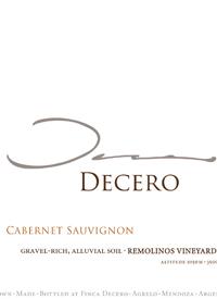 Finca Decero Cabernet Sauvignon Remolinos Vineyardtext