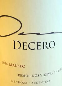 Finca Decero Malbec Remolinos Vineyardtext