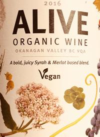 Summerhill Pyramid Winery Alive Organic Red Vegantext