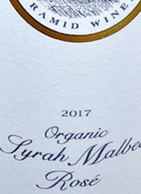 Summerhill Pyramid Winery Organic Syrah Malbec Rosetext