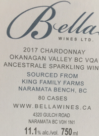 Bella Wines Chardonnay Methode Ancestrale King Family Farms