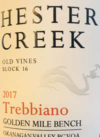 Hester Creek Old Vines Block 16 Trebbianotext
