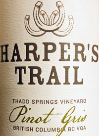 Harper's Trail Pinot Gris Thad Springs Vineyardtext