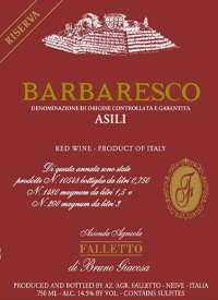 Falletto di Bruno Giacosa Barbaresco Asili Riserva Red Labeltext
