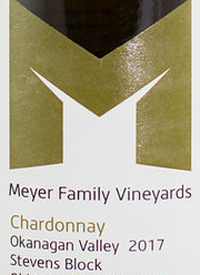Meyer Family Vineyards Chardonnay Stevens Block Old Main Road Vineyard
