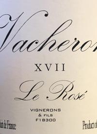 Domaine Vacheron VdF Le Rosé XVIItext