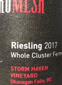Synchromesh Wines Storm Haven Vineyard Whole Cluster Fermenttext