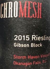 Synchromesh Storm Haven Vineyard Gibson Block Rieslingtext
