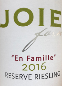 JoieFarm En Famille Reserve Rieslingtext