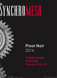 Synchomesh Storm Haven Vineyard Pinot Noirtext