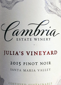 Cambria Pinot Noir Julia's Vineyardtext