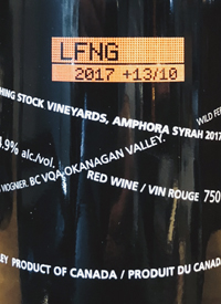 Laughing Stock Vineyards Amphora Syrah +13/10text