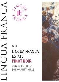 Lingua Franca Estate Pinot Noir