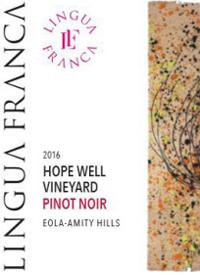 Lingua Franca Hope Well Pinot Noirtext