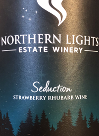 Northern Lights Estate Seduction Strawberry Rhubarb Winetext