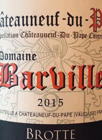 Brotte Chateauneuf-du-Pape Domaine Barvilletext