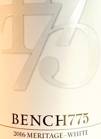Bench 1775 Meritage Whitetext