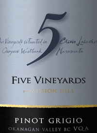 Five Vineyards by Mission Hill Pinot Grigio