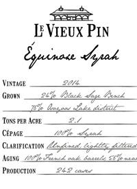 Le Vieux Pin Equinoxe Syrah