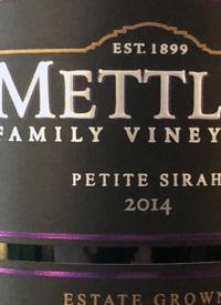 Mettler Family Vineyards Petite Sirahtext