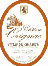 Chateau d'Orignac Pineau des Charentestext