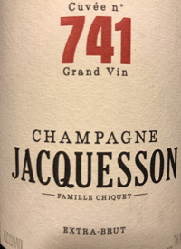 Champagne Jacquesson Cuvée n° 741 Extra-Bruttext