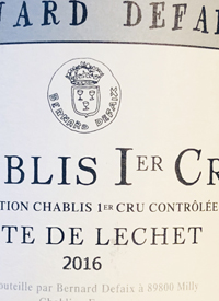 Domaine Bernard Defaix Chablis 1er Cru Cote de Léchet