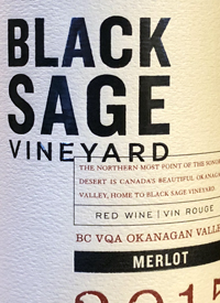 Black Sage Vineyard Merlottext