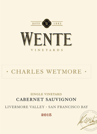 Wente Vineyards Single Vineyard Cabernet Sauvignon Charles Wetmore