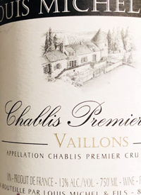 Louis Michel and Fils Chablis 1er Cru Vaillonstext