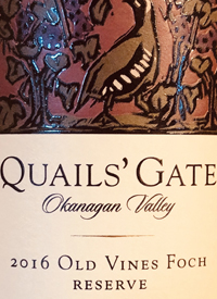 Quails' Gate Old Vines Foch Reservetext