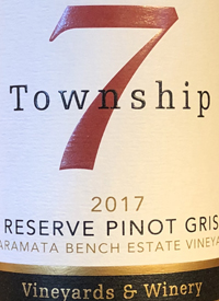 Township 7 Reserve Pinot Gris Naramata Bench Estate Vineyardtext