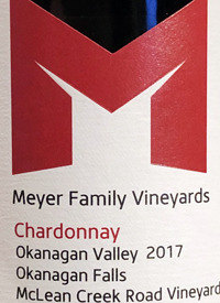 Meyer Family Vineyards Chardonnay McLean Creek Vineyardtext